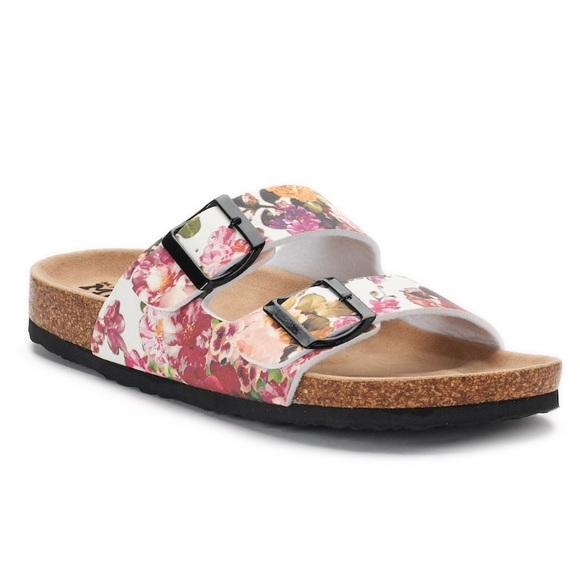 7705c11a398 Floral double buckle sandals